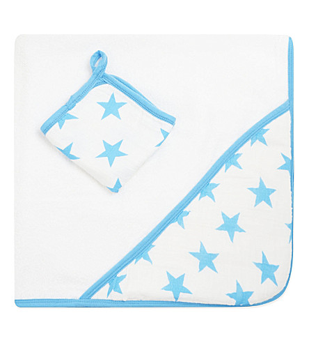 ADEN + ANAIS Fluro star towel and washcloth set (Star