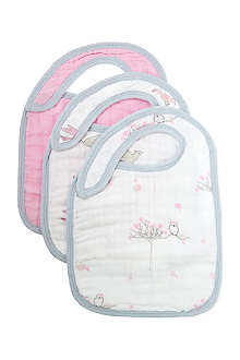 ADEN + ANAIS Three-pack classic snap bib