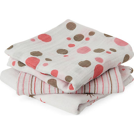 ADEN + ANAIS Set of three Star Light muslin cloths