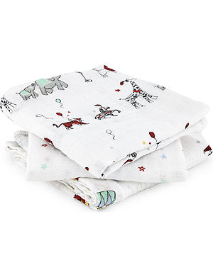ADEN + ANAIS Set of three circus muslin cloths