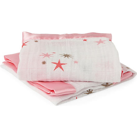 ADEN + ANAIS Set of two Rinny muslin security blankets