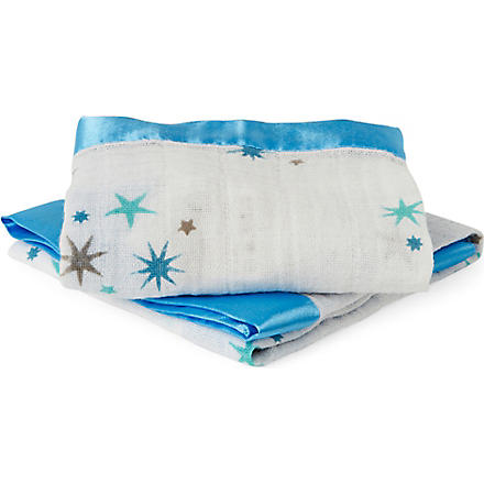 ADEN + ANAIS Set of two Auelia muslin security blankets