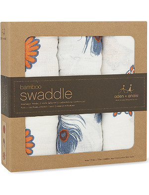ADEN + ANAIS Set of three Mela muslin bamboo swaddles