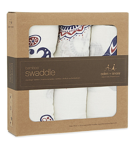 ADEN + ANAIS Set of three Diwali muslin swaddles