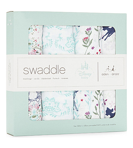 ADEN + ANAIS Set of four Bambi swaddles (Multi