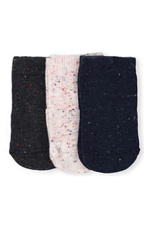ETIQUETTE SOCKS Set-of-three mix candy bundle socks