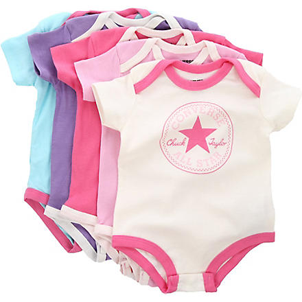 CONVERSE Five-pack bodysuit set 0-12 months (Pink