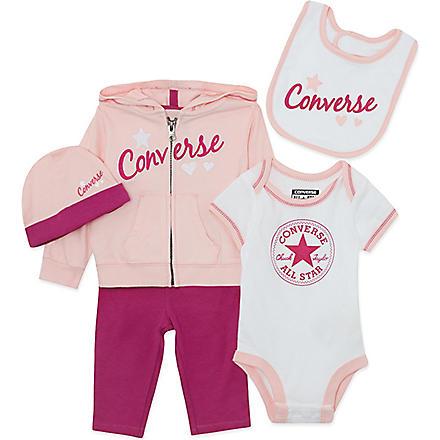 CONVERSE Five-piece baby set 0-12 months (Pink