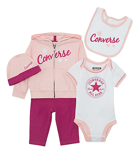 CONVERSE Five-piece baby set 0-12 months (Pink