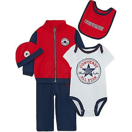 CONVERSE Five-piece baby set 0-12 months (Navy