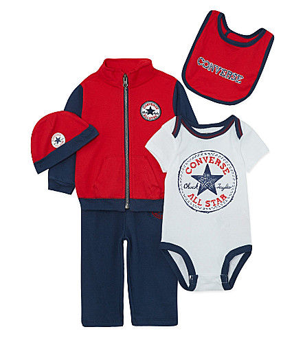 CONVERSE Five-piece baby set 0-12 months (Navy