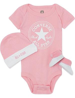 CONVERSE Three-piece baby gift set 0-6 months