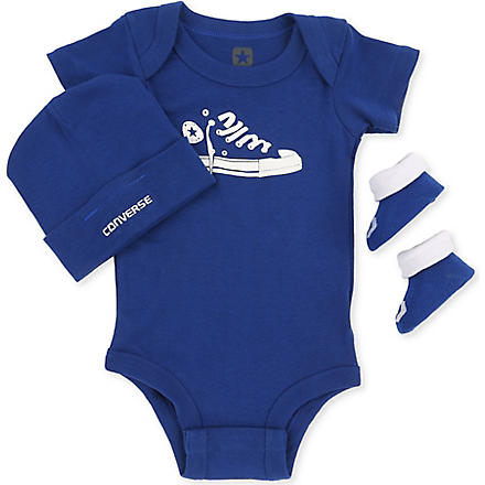 CONVERSE Three-piece set 0-12 months (Navy