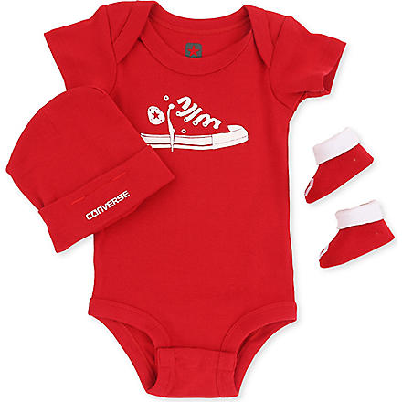 CONVERSE Three-piece set 0-12 months (Pink