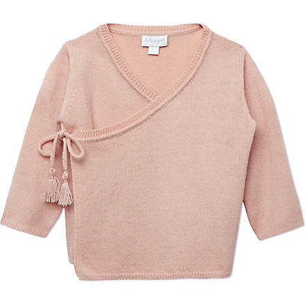BELLE ENFANT Cashmere wrap top 0-12 months (Rose
