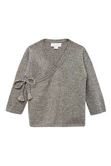 BELLE ENFANT Cashmere wrap top 0-12 months