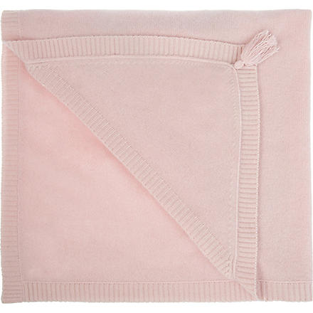 BELLE ENFANT Blanche hooded cashmere blanket (Blush