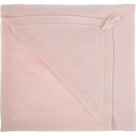 BELLE ENFANT Blanche hooded cashmere blanket (Blush