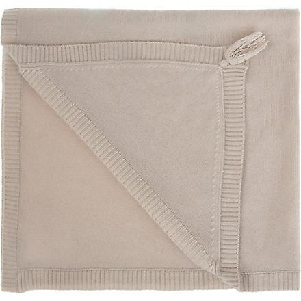 BELLE ENFANT Blanche hooded cashmere blanket (Fawn