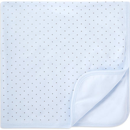 LIVLY Dots blanket (Blue/silver