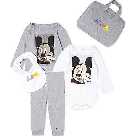 ELEVEN PARIS Mickey mini gift set 3-18 months (White