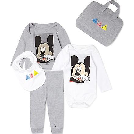 ELEVEN PARIS Mickey mini gift set 3-18 months (White