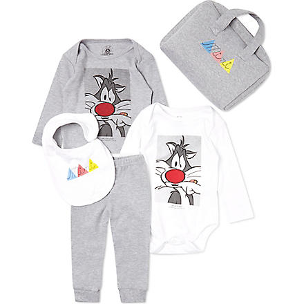 ELEVEN PARIS Sylvester mini gift set 3-18 months (White