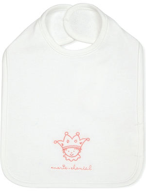 MARIE CHANTAL Embroidered cotton bib