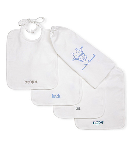 MARIE CHANTAL Meal Time bib set (Dusty+blue