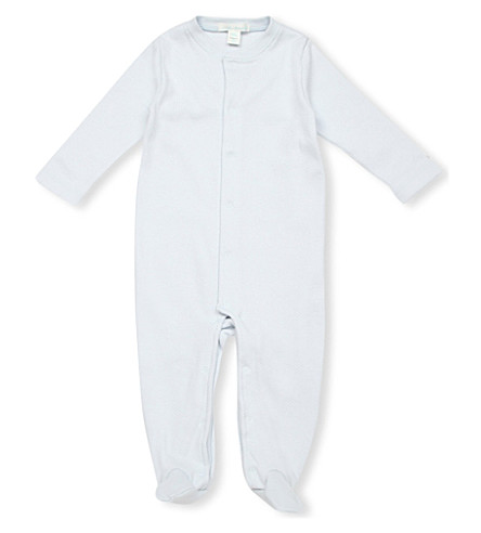 MARIE CHANTAL Angel Wing velour sleepsuit (Blue