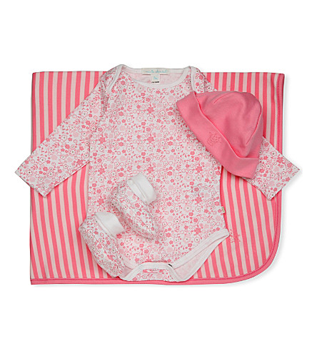 MARIE CHANTAL Floral baby gift set (Pink