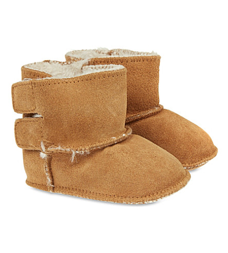 MY 1ST YEARS Suede leather booties (Tan