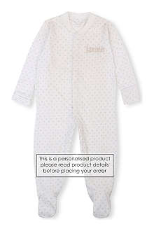 MY 1ST YEARS Star print sleepsuit 0-12 months