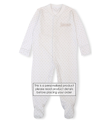 MY 1ST YEARS Star print sleepsuit 0-12 months (White