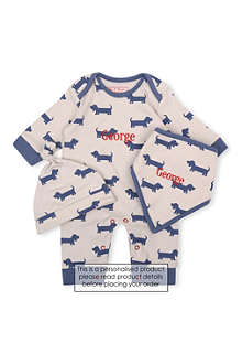 MY 1ST YEARS Sausage dog three piece set 6-12 months