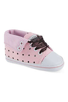 MY 1ST YEARS Polka dot hi-top trainers 0-18 months