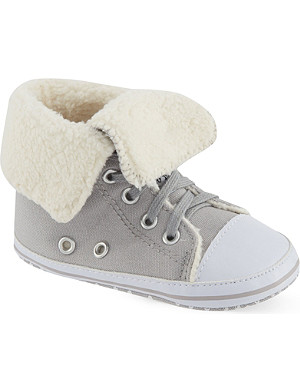 MY 1ST YEARS Sherpa fleece lined hi-top trainers 0-18 months