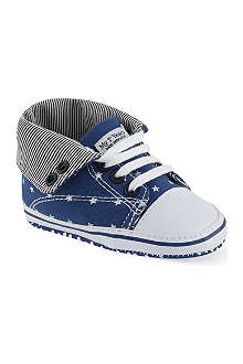 MY 1ST YEARS Star print hi-top trainers 0-18 months