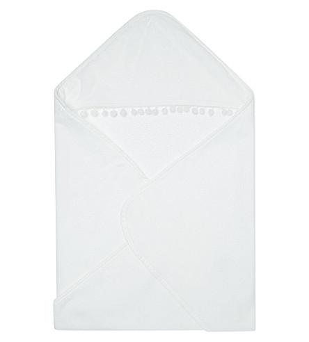 MY 1ST YEARS Pom pom hooded towel (White