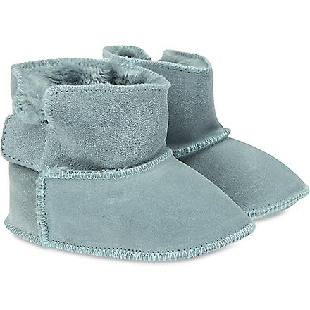 MY 1ST YEARS Suede sheepskin booties (Blue