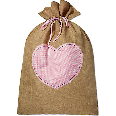 MY 1ST YEARS Hessian gift sack (Pink