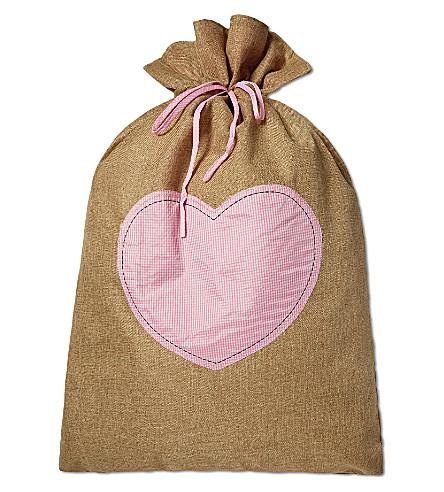 MY 1ST YEARS Hessian gift sack (Pink
