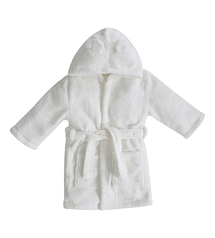 MY 1ST YEARS Hooded bathrobe with ears 1-2 years (Ivory