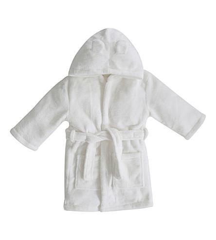 MY 1ST YEARS Hooded bathrobe with ears 1-2 years (Ivory
