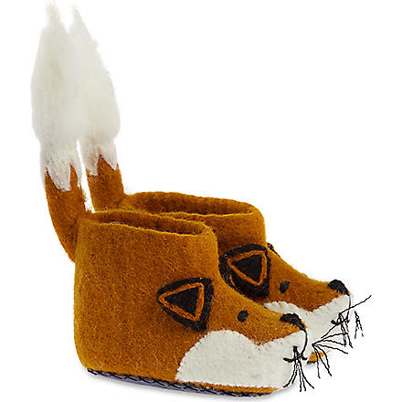SEW HEART FELT Finlay fox slippers (Orange