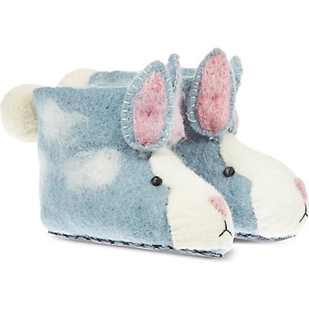 SEW HEART FELT Rory Rabbit slippers (Blue