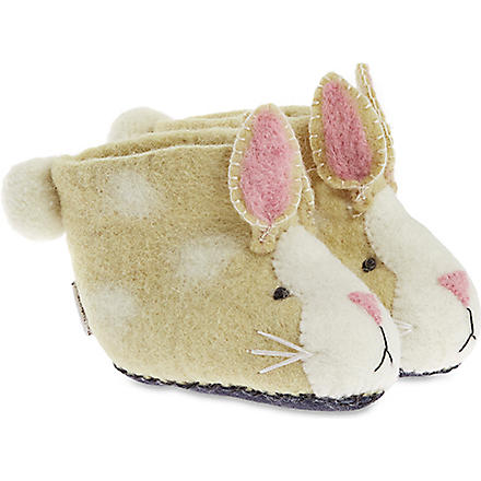 SEW HEART FELT Ruby rabbit slippers (Brown