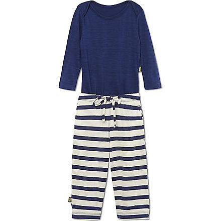 NUI Long sleeved bodysuit and trousers 0-18 months (Navy