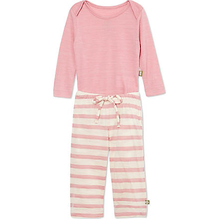 NUI Long sleeved bodysuit and trousers 0-18 months (Rose