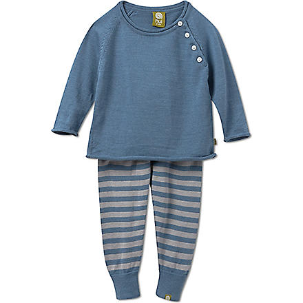 NUI Ben sweater and leggings set 0-24 months (Blue